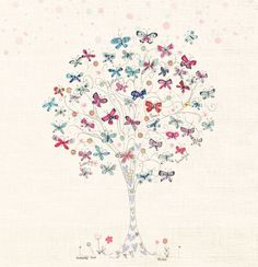 Gorgeous print by Phoenix artist Kim Anderson. butterfly tree / print by kimartwork on Etsy, Zen Doodle, Doodle Art, Doodle Trees, How To Make Doodle, Tree Drawing Simple, Butterfly Tree, Butterflies, Girl Decor, Art Wall Kids
