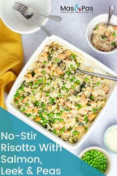 No-stir risotto with salmon, leek and peas Try this tasty risotto that's suitable for even the young Picky Toddler Meals, Healthy Meals For Kids, Toddler Dinners, Baby Meals, Toddler Lunches, Baby Foods, Toddler Food, Gluten Free Recipes For Kids, Baby Food Recipes