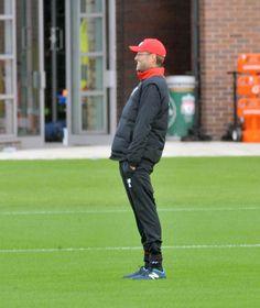 Klopp takes training at Liverpool