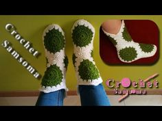 bfaba6e41f008 Crochet Samsoma - YouTube crochet shoes كروشيه هاف بوت نسائي Zapatos De  Ganchillo