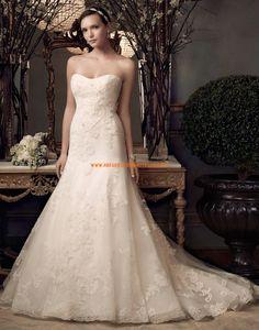 Casablanca Meerjungfrau Romantische Traumhafte Brautkleider aus Organza mit Applikation