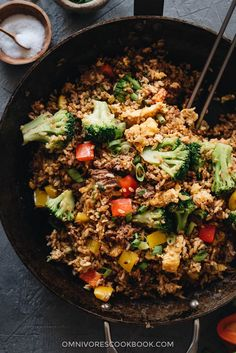 """foodffs: """"Easy Beef Fried Rice (牛肉炒饭) This easy beef fried rice uses a bold seasoning of chili and cumin. It requires very little prep and only takes 10 minutes to cook. A one-pan dish that's. Asian Dinner Recipes, Asian Recipes, Lamb Recipes, Freezer Friendly Meals, Freezer Meals, Chinese Dinner, Chinese Meals, Chinese Food, Beef Fried Rice"""