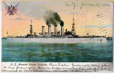 US Navy Ship Battleship - USS Colorado -  Armoured Cruiser , UDB