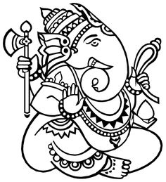 Print these Hindu mythological Lord Ganesha Free Coloring Pages for your kids. Ignite the spark of spirituality in kids through these simple activities. Wish you are going to have a great Ganesh Chaturthi ! Ganesha Drawing, Ganesha Painting, Ganesha Art, Kerala Mural Painting, Indian Art Paintings, Madhubani Painting, Simple Paintings, Abstract Paintings, Glass Painting Patterns