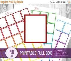 SALE Full Box Printable Planner Sticker Full Box by FleurStickers