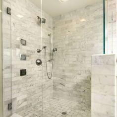 Seventy Five Arlington Bathrooms White Marble Subway