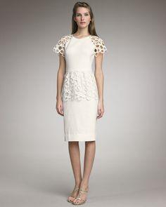 Lela Rose Lace-Detailed Dress
