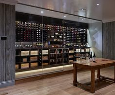 London's latest homes trend is the wine cellar. Essential for oenophiles, you can also create a wine wardrobe or bespoke wine room Glass Wine Cellar, Home Wine Cellars, Wine Cellar Design, Under Stairs Wine Cellar, Interior Styling, Interior Decorating, Bar A Vin, Home Bar Designs, Wine Display