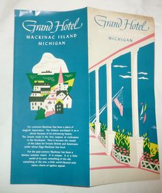 Vintage Grand Hotel Mackinac Island Michigan Brochure | eBay