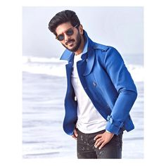 """""""Blue skies, smilin' at me Nothin' but blues skies do I see Bluebirds singing a song Nothin' but bluebirds all day long"""" """"Blue days, all… Denim Button Up, Button Up Shirts, Good Relationship Quotes, Vijay Actor, Actors Images, Poses For Men, Jacqueline Fernandez, Actor Photo, Love Movie"""