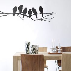 FermLiving WallStickers (birds)/ probably could add some color if you wanted to