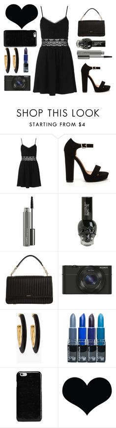 """Dark soul"" by naddy-blanc on Polyvore featuring Topshop, MAC Cosmetics, DKNY, Sony, Chico's and Maison Margiela"
