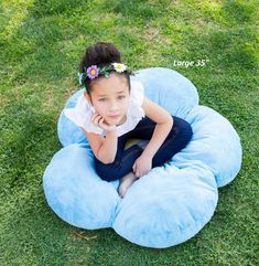Girls Flower Floor Pillow Seating Cushion for a Reading Nook Bed Room or Watching TV. Softer and More Plush Than Area Rug or Foam Mat. 16 Blue >>> Visit the image link more details. (This is an affiliate link) Floor Pillows, Bed Pillows, Cushions, Make Her Smile, Reading Nook, Baby Car Seats, Bean Bag Chair, Area Rugs, Plush
