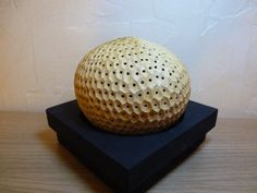 Rêve de Nyota, lampe d'ambiance en noix de coco sculptée