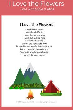 I Love the Flowers Free Printable Lyrics