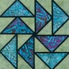 Stained Glass Dutchman's Puzzle Quilt Block Pattern