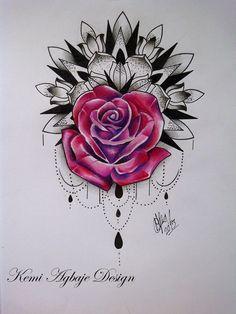 roses tattoos tumblr - Pesquisa Google