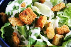 croutons on salad South African Recipes, Ethnic Recipes, How To Make Croutons, Pumpkin Fritters, Crouton Recipes, Soup And Salad, Salad Recipes, Cooking Recipes, Homemade