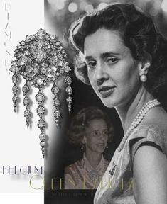 Waterfall Diamond Brooch of Queen Fabiola of Belgium, http://www.royal-magazin.de/belgium/belgium-fabiola-waterfall-brooch.htm Queen Mathilda and the jewel http://www.royal-magazin.de/belgium/belgium-mathilde-waterfall-brooch.htm