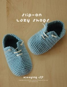 Slip-On Baby Lazy Shoes Crochet PATTERN Kittying Crochet Pattern by kittying.com from mulu.us This pattern includes sizes for 0 - 12 months.