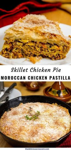 Moroccan chicken pastilla is a delicious savory pastry made with tender shredded chicken flavored wi Low Carb Appetizers, Appetizer Recipes, Appetizer Ideas, Dinner Recipes, Vegetarian Recipes, Cooking Recipes, Healthy Recipes, Moroccan Dishes, Moroccan Recipes