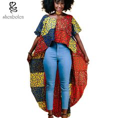 2017 summer autumn african clothes for women batik wax print cotton fashion Irregular tops ankara clothing T shirt upper garment African Men Fashion, African Dresses For Women, Africa Fashion, African Wear, African Clothes, African Tops, African Style, Ankara Clothing, Women's Clothing