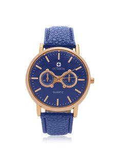 Octavia Women's OCT2069 Perfecta Blue Leather Watch, http://www.myhabit.com/redirect/ref=qd_sw_dp_pi_li?url=http%3A%2F%2Fwww.myhabit.com%2Fdp%2FB011L7PSSO%3F