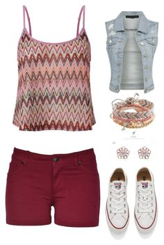 """""""for my bff @directioner1706"""" by angela229 ❤ liked on Polyvore featuring Lipsy, Converse, Aéropostale and kitsch island"""