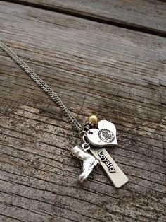 Army Necklace / Army Wife / Army Girlfriend / Army by CADETcouture, $20.00