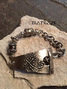 Crossroads by markaZo on Etsy Handmade Jewelry, Unique Jewelry, Handmade Gifts, Artisan, Trending Outfits, Bracelets, Earrings, Silver, Etsy