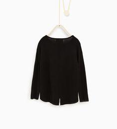 ZARA - BØRN - Sweater med lommer i imiteret skind