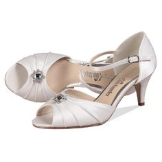 Satin Brautschuhe in ivory - MissGermany Collection