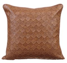 Decorative Throw Pillow Covers Accent Pillow Couch Sofa Leather Pillow Case 16x16 Tan Brown Faux Leather Pillow Cover Textured Tan Leather Weave ___________________________... #homecentric #bedroom