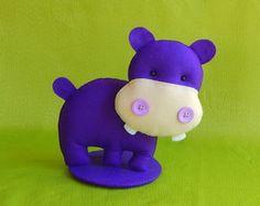 Hipopótamo Grande Com Base