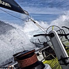 Leg 5 to Itajaí. Day 6. Threatening waves in the #SouthernOcean. Photo by Stefan Coppers/Team Brunel #volvooceanrace #sailing #extreme #waves #teambrunel