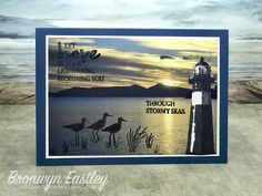 High Tide at Sunrise 1 by BronJ - Cards and Paper Crafts at Splitcoaststampers Masculine Birthday Cards, Birthday Cards For Men, Masculine Cards, Kirigami, High Tide Stampin Up, Nautical Cards, Beach Cards, Stamping Up Cards, Watercolor Cards