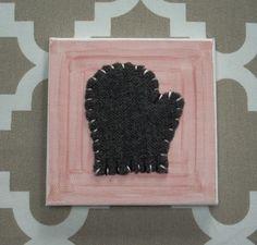 Tiny Mitten #12 Fabric Wall Art by CottonwoodCove on Etsy