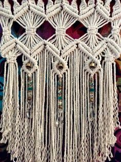 Macrame Wall Hanging Tapestry Woven Wall by MacrameElegance