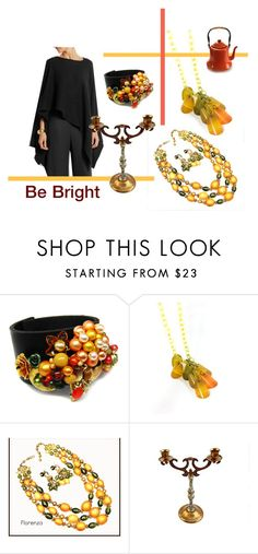 """""""Be Bright"""" by seasidecollectibles ❤ liked on Polyvore featuring Donna Karan, vintage and etsyevolution"""