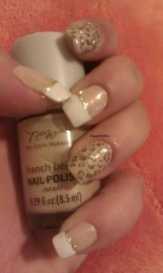 Leopard/French #Nails -- Done by meee =D