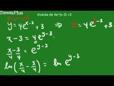 Función inversa de una función exponencial