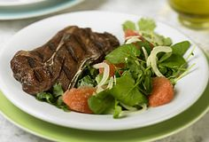 Five-Spice Australian Lamb Shoulder Chops & Grapefruit-Fennel Salad | #aussielamb www.australian-lamb.com