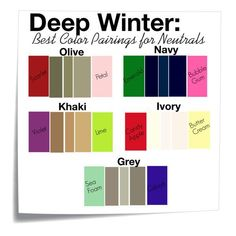 Pairing Neautrals for Deep Winter Color Pallet – Glimpse