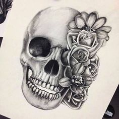 ☮✿★✝ SKULL TATTOO IDEA ✝☯★☮