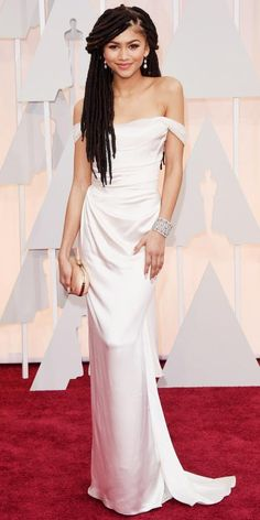 Academy Awards 2015 Red Carpet Arrivals - Zendaya from #InStyle  She's way too skinny, but this dress is still a Vivienne Westwood masterpiece