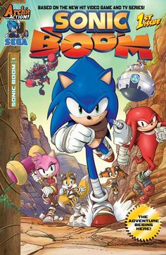 "Here comes the BOOM! Get in on the ground floor with the ALL-NEW ONGOING SONIC COMIC BOOK SERIES from Archie Comics based on the new hit TV series and video game: Sonic Boom! This ground-breaking new chapter in the Sonic the Hedgehog franchise puts a new ""spin"" on all your favorite heroes and villains—plus new faces and hilarious new stories chock-full of action—..."" preorder them here: http://archiecomics.stores.yahoo.net/sonicboom.html"