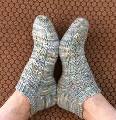 Ravelry: Cool Morning Socklet pattern by Marlene Berghout Knitting Patterns Free, Knit Patterns, Free Knitting, Free Pattern, Toe Up Socks, Ankle Socks, Knitting Socks, Knit Socks, Women's Socks