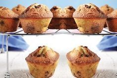 Recipe for muffins (in Greek)_?a Muffins via argiro. Sweets Recipes, Candy Recipes, Muffin Recipes, Desserts, Breakfast Recipes, Muffins, Mini Foods, Recipes From Heaven, No Bake Cake