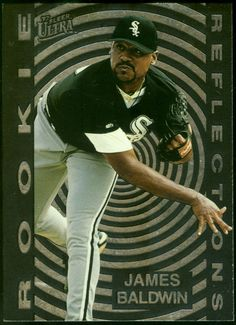 CHICAGO WHITE SOX 1997 ULTRA REFLECTIONS JAMES BALDWIN ROOKIE  FREE SHIPPING #ChicagoWhiteSox