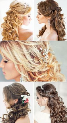 Half Up Half Down Wedding Hairstyles / http://www.himisspuff.com/bridal-wedding-hairstyles-for-long-hair/32/